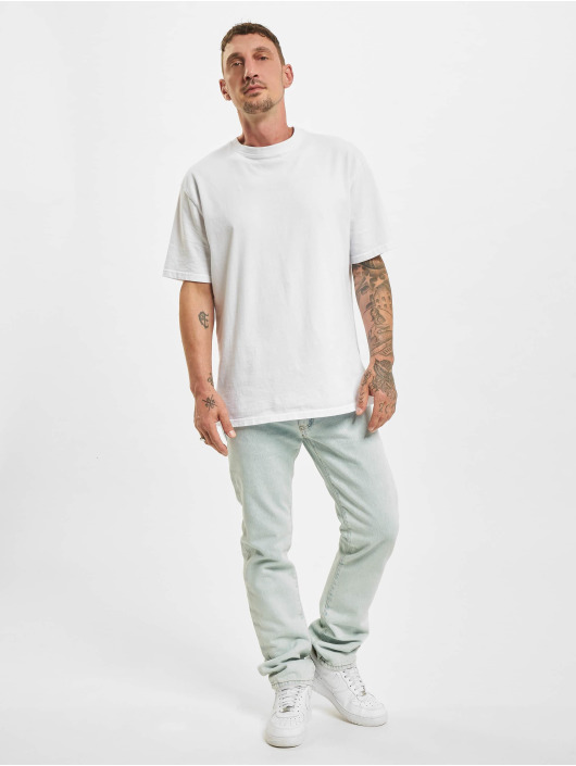 Off-White Slim Fit Jeans Diagonal Stripe blauw