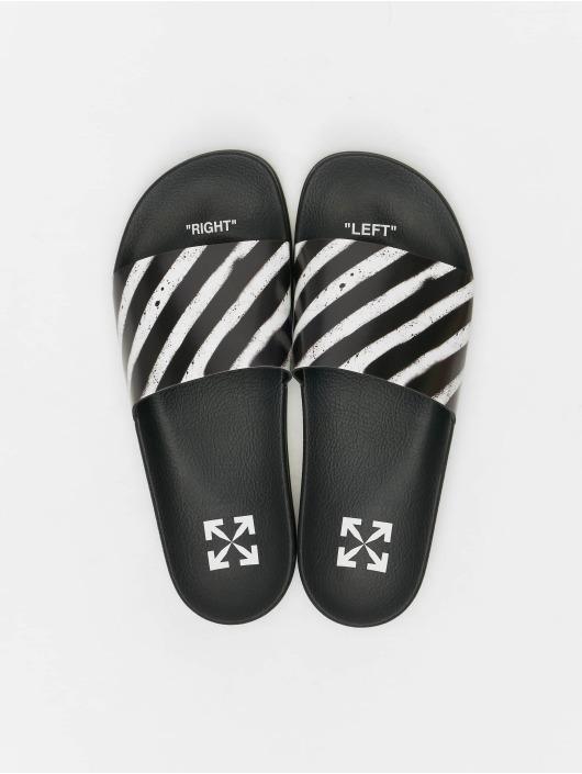 Off-White Slipper/Sandaal Spray Stripes zwart