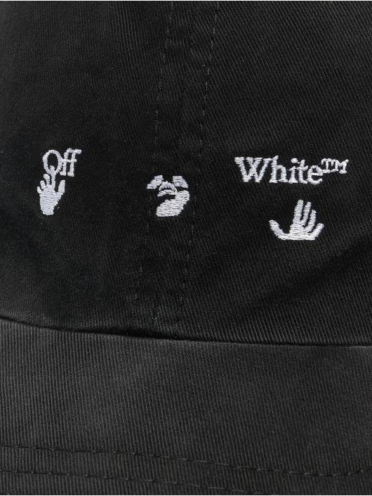 Off-White Snapback Cap Logo Baseball schwarz