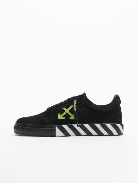 Off-White Sneakers Low Vulcanized Cow Suede svart