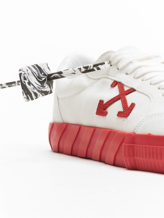 Off-White Sneakers Low Vulcanized Suede Leather white
