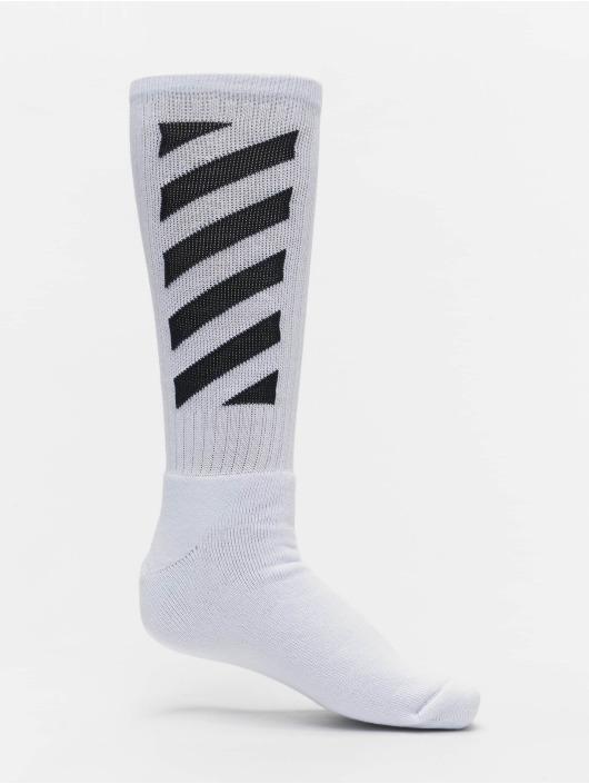 Off-White Sokken Diag Mid wit