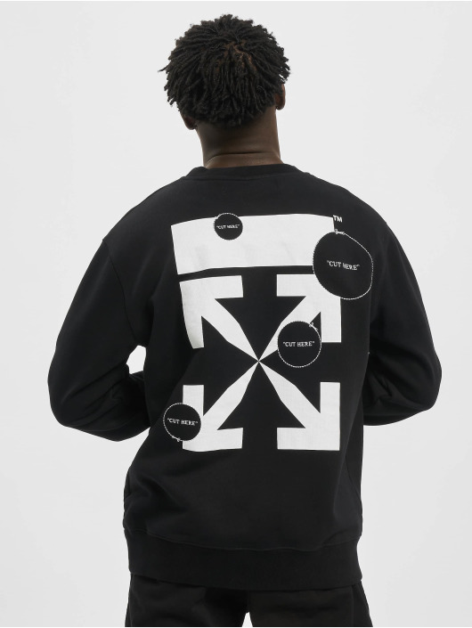 Off-White Sweat & Pull Cut Here Slim noir