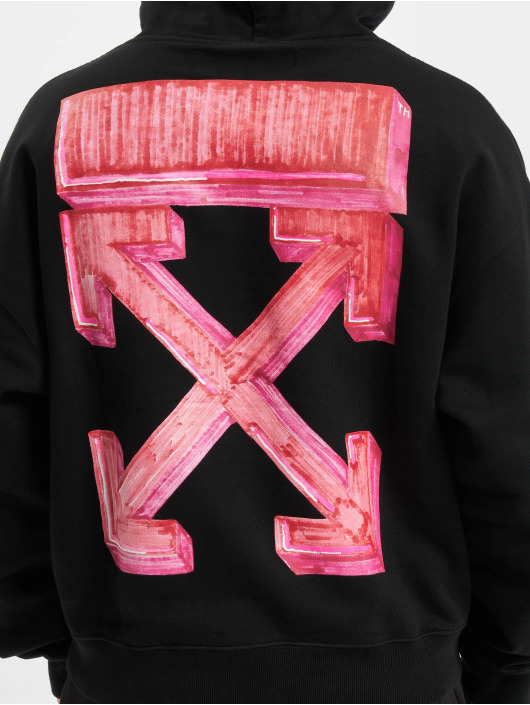 Off-White Sweat capuche Marker Over noir
