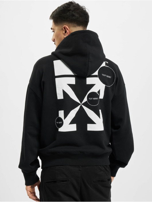 Off-White Sweat capuche Cut Here Over noir