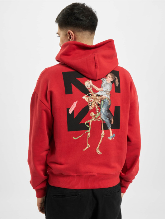 Off-White Sweat capuche Pascal Skeleton rouge