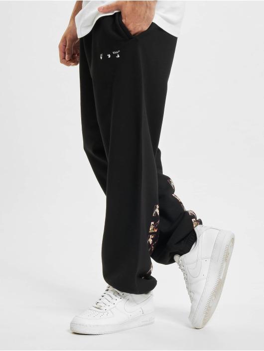 Off-White Sweat Pant Sprayed Caravag Slim black