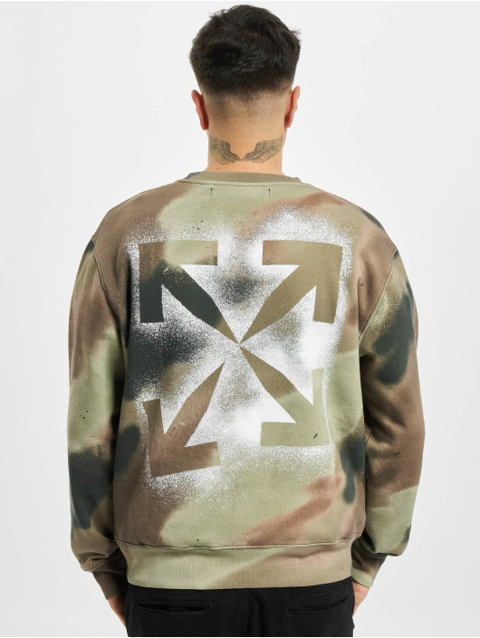 Off-White Swetry Camo Stencil bialy
