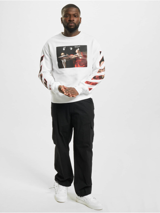 Off-White Swetry Caravaggio Slim bialy
