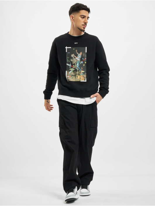 Off-White Swetry Pascal Print Slim czarny