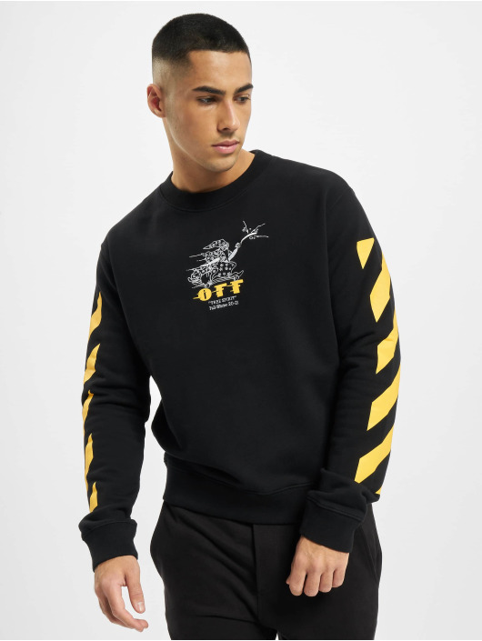 Off-White Swetry Diag Free Wizard Crewneck zólty