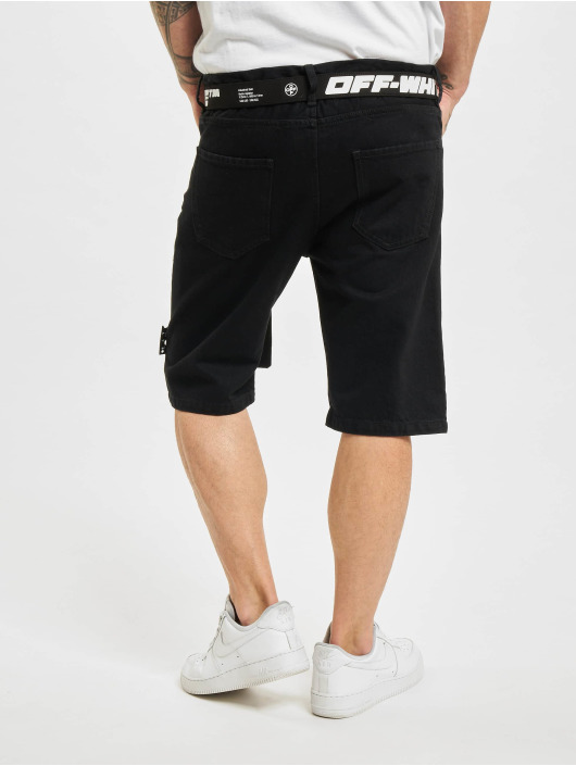 Off-White Szorty Logo Belt Denim czarny