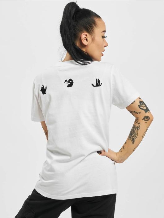 Off-White T-shirt Boyfriends Casual bianco