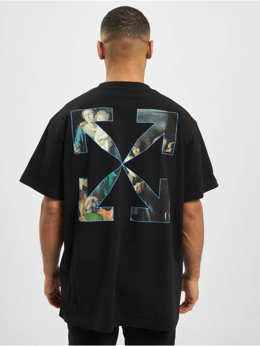 Off-White T-Shirt Caravag Painting S/S Over black