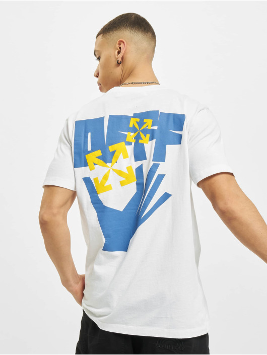 Off-White T-Shirt Hands Arrows blanc