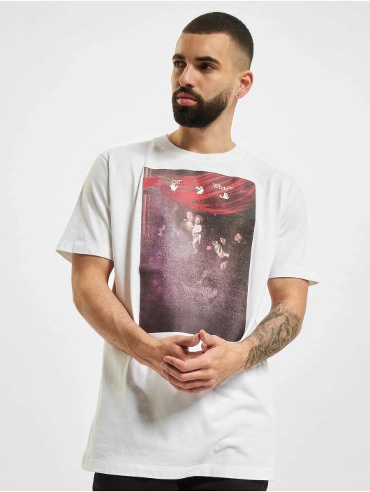 Off-White T-Shirt Sprayed Caravagg S/S Slim blanc