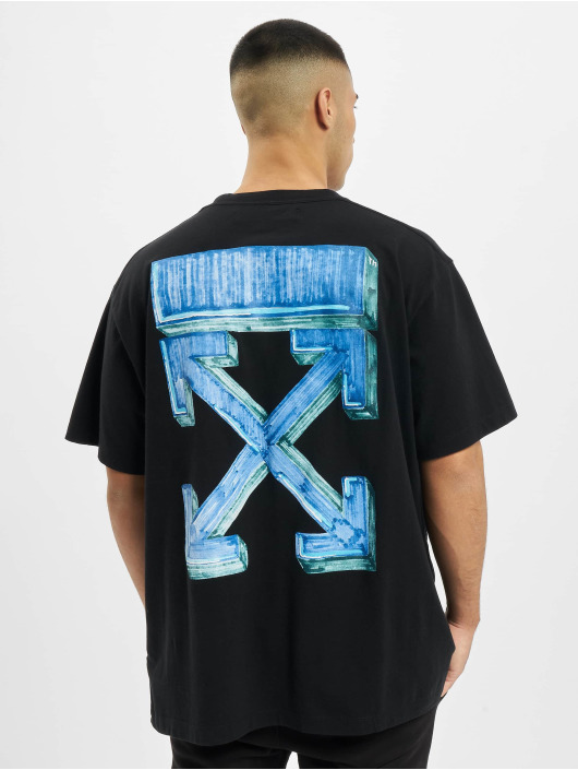 Off-White t-shirt Marker S/S blauw