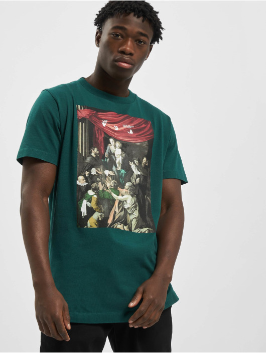 Off-White T-Shirt Carvag Painting S/S green