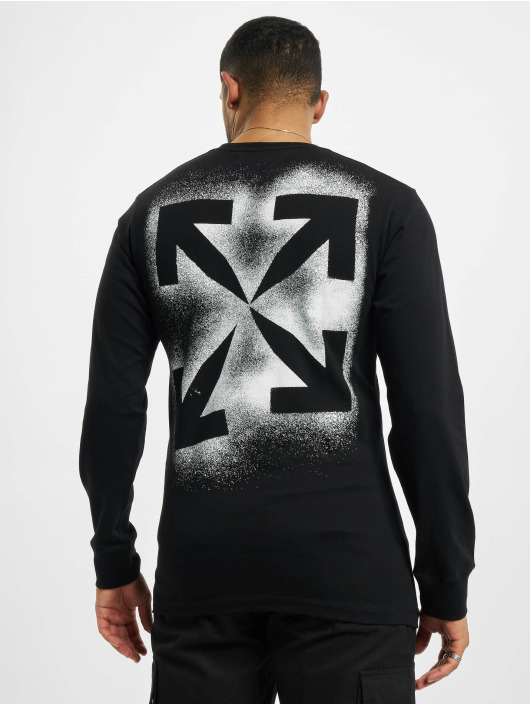 Off-White T-Shirt manches longues Stencil noir