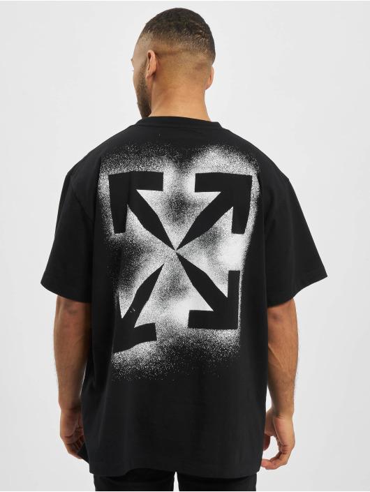 Off-White T-shirt Stancil Over nero