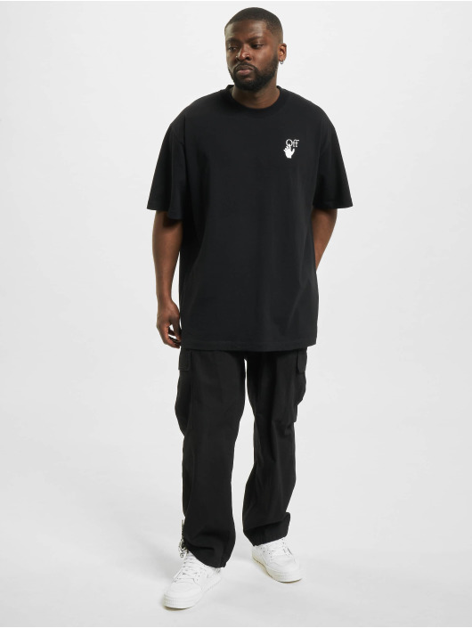 Off-White T-shirt Marker S/S Over nero