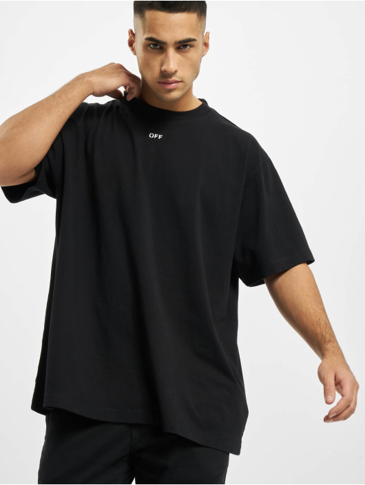 Off-White T-Shirt Stancil Over noir