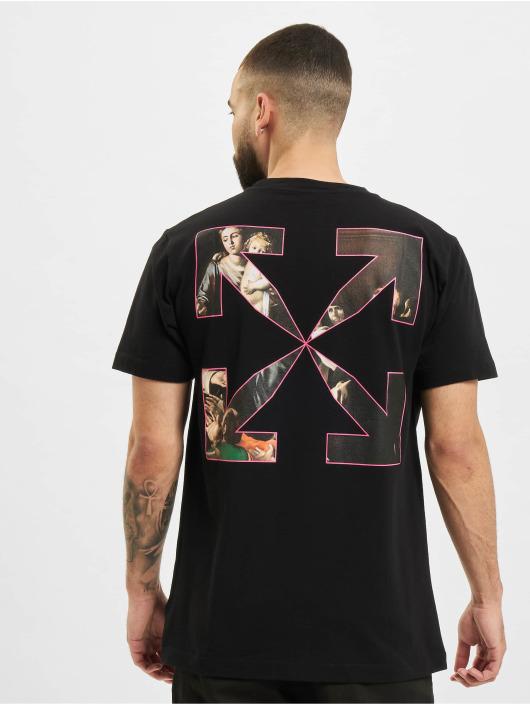 Off-White T-Shirt Sprayed Caravagg S/S Slim noir