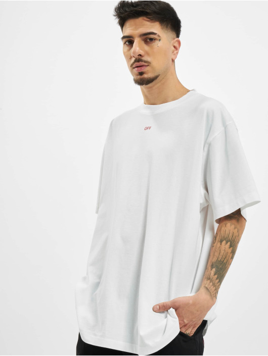 Off-White T-Shirt Stancil Over red