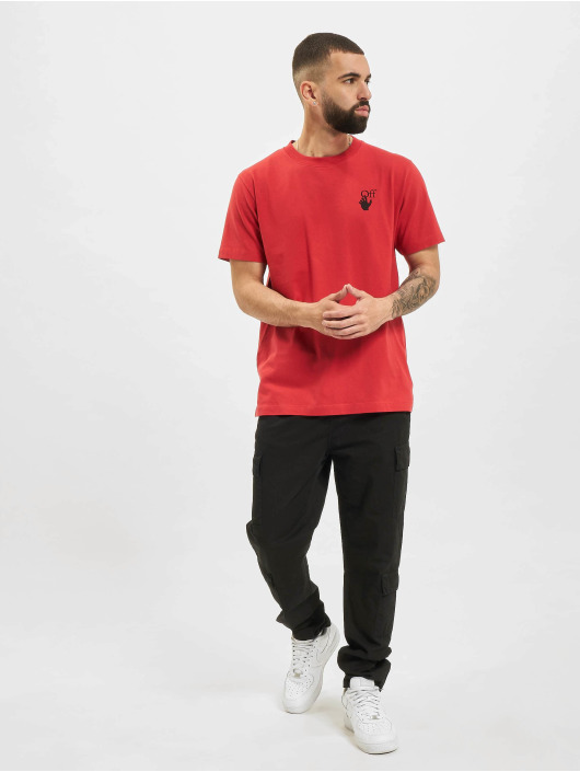 Off-White T-Shirt Spray Marker red