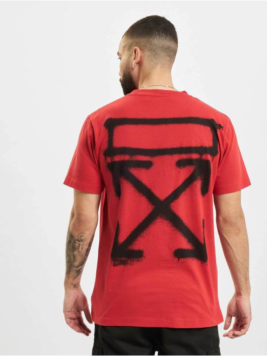Off-White t-shirt Spray Marker rood