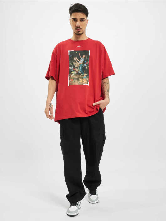 Off-White T-Shirt Pascal Print rouge