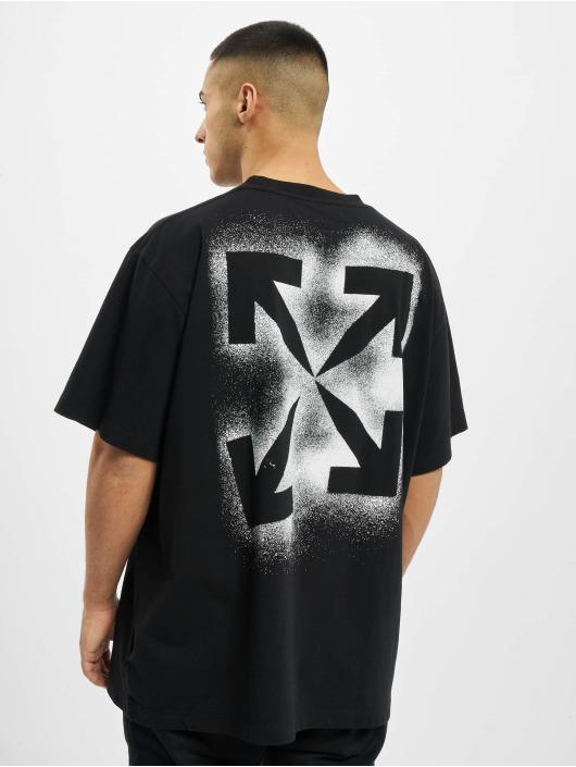 Off-White T-Shirt Stancil Over schwarz