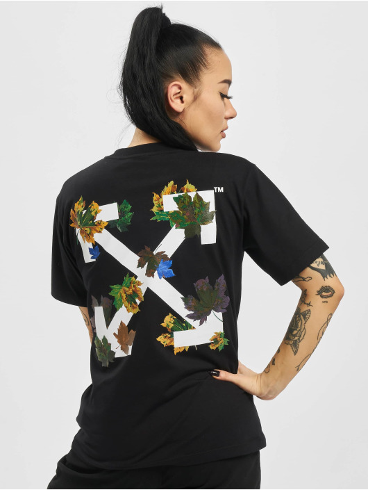 Off-White T-Shirt Leaves Arrow Casual schwarz