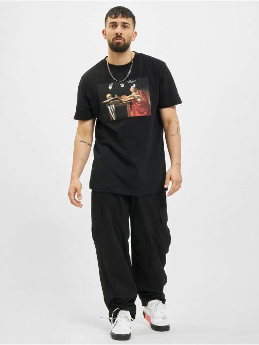Off-White T-Shirt Caravaggio Slim schwarz