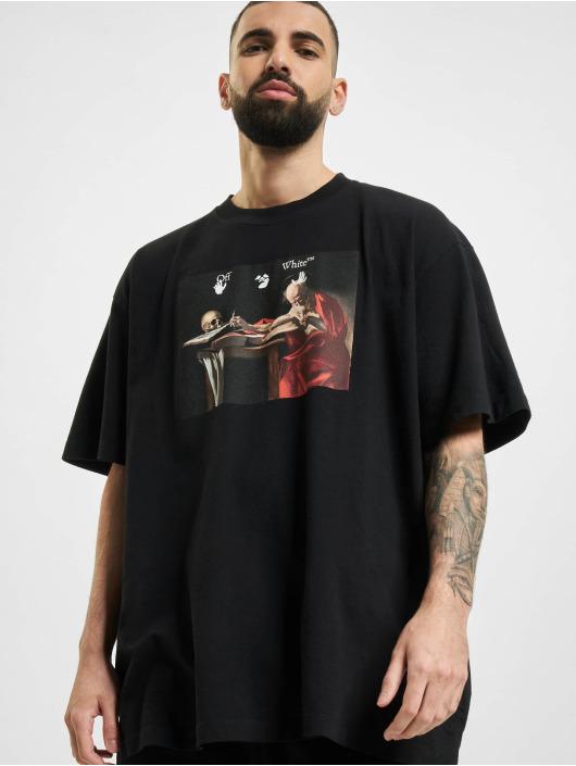Off-White T-Shirt Caravaggio Over schwarz
