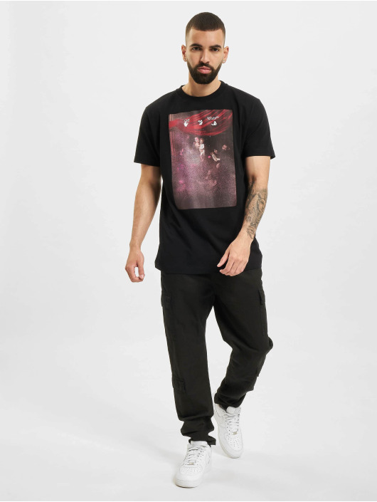Off-White T-Shirt Sprayed Caravagg S/S Slim schwarz