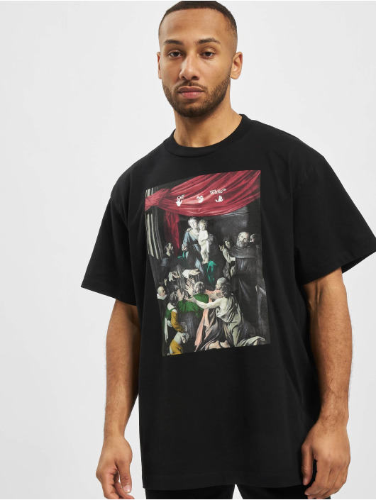 Off-White T-shirt Caravag Painting S/S Over svart