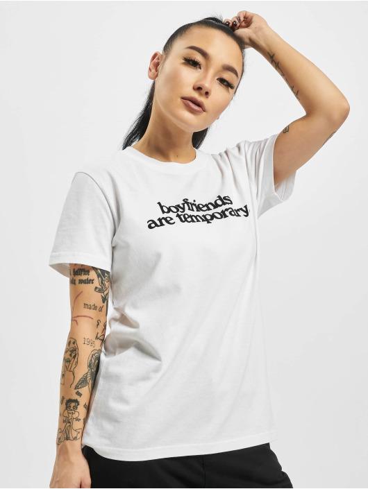 Off-White T-Shirt Boyfriends Casual weiß