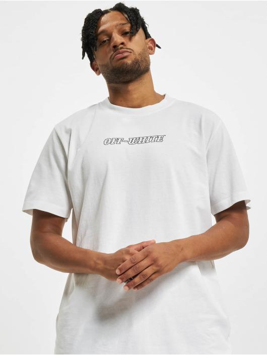 Off-White T-Shirt Logo Print Cotton weiß