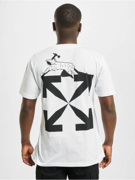 Off-White T-Shirt World Caterpilla weiß