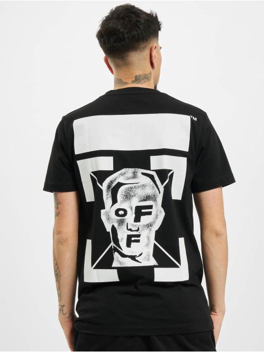 Off-White t-shirt Pivot Fish zwart