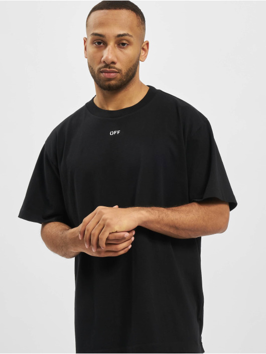 Off-White t-shirt Stancil Over zwart