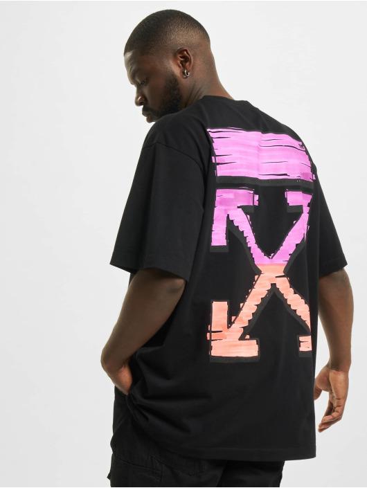 Off-White t-shirt Marker S/S Over zwart