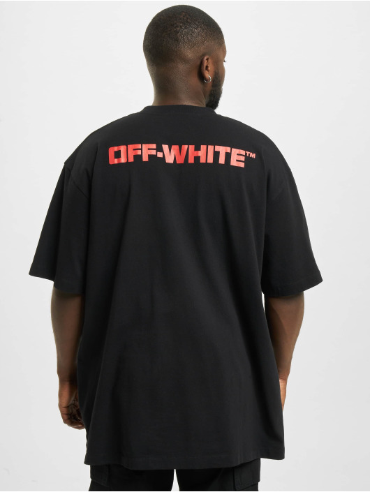 Off-White t-shirt Dematerial zwart