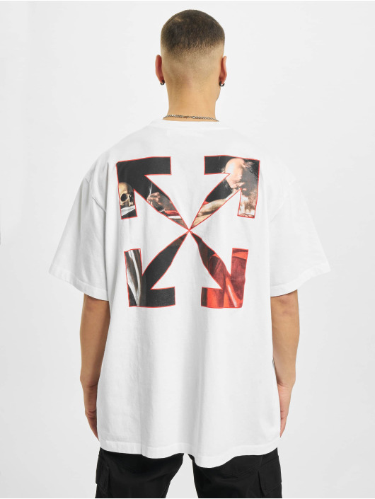 Off-White T-shirts Caravaggio Over hvid