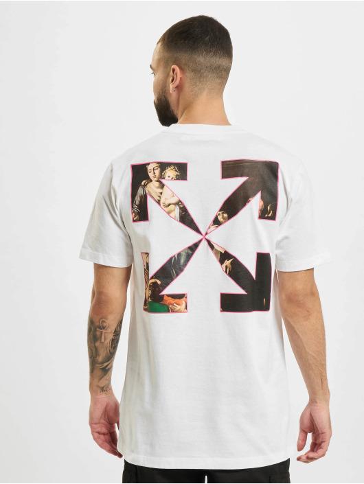 Off-White T-shirts Sprayed Caravagg S/S Slim hvid