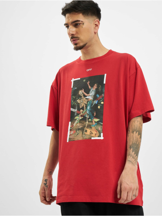 Off-White T-shirts Pascal Print rød