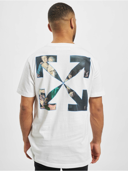 Off-White T-Shirty Carvag Painting S/S bialy