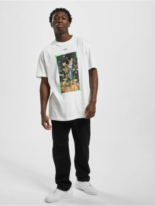 Off-White T-Shirty Pascal Print S/S bialy