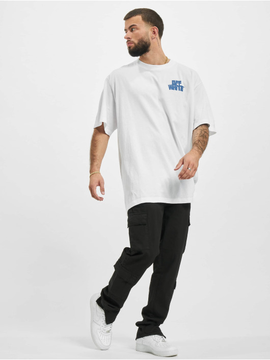 Off-White T-Shirty Hands Arrows Slim bialy